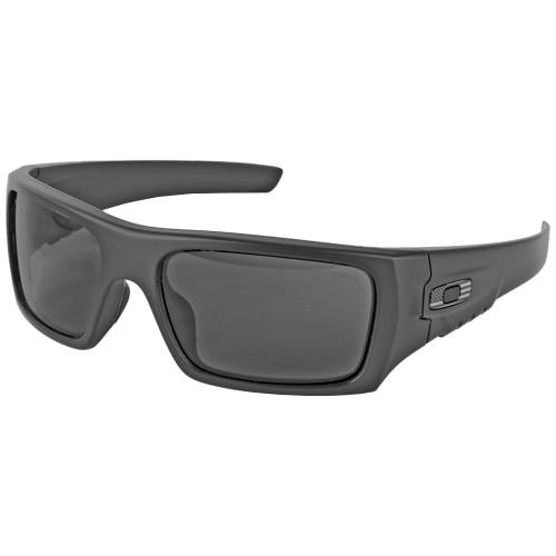 Oakley Men's Ballistic Det Cord Sunglasses - SI USA (Tonal) Flag Matte Black Frame- Gray Lens (ANSI Z87.1 Stamped) - OAKOO9253-1061