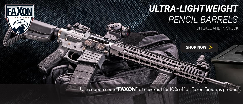 10 Percent Off all Faxon Firearms Barrels promo code FAXON
