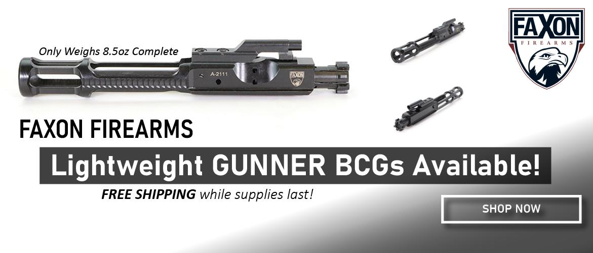 Faxon Firearms Lightweight Gunner BCGs Available Now