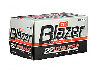 cci blazer high velocity 22lr 40 grain lead round nose 1235 fps 500