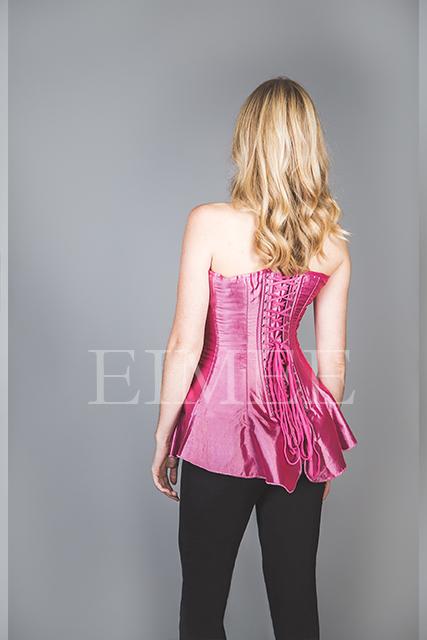 Silk Corseted Skirt Boned Basque SHANEECE