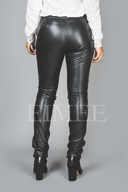 Full Grain Skinny Leather Leggings Skinny Fit JAQUELIN back