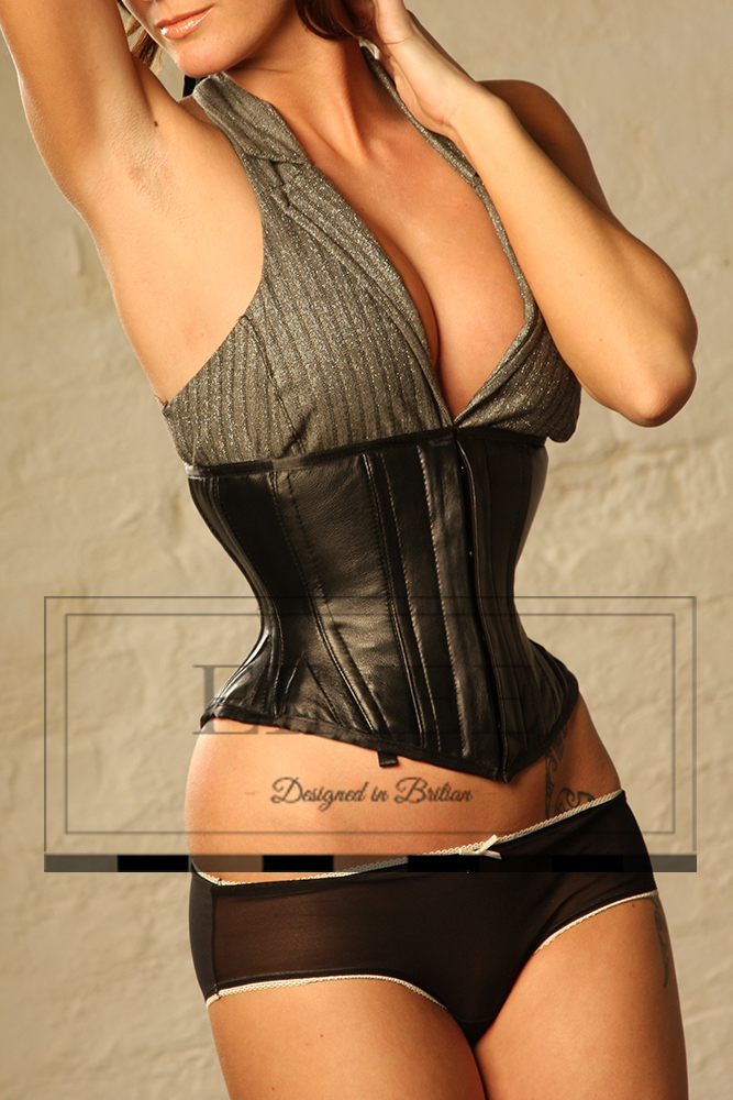 Super Strong Leather Corset Underbust Back Lacing Waspie pic2
