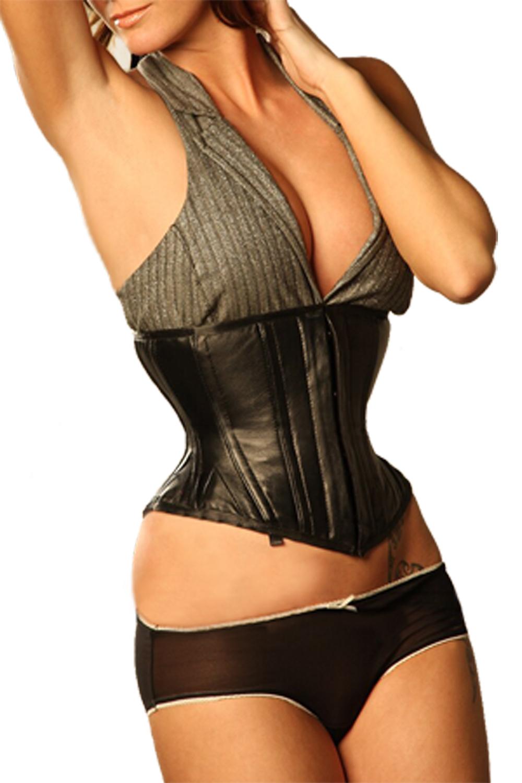 Steel Boned Leather Waspie