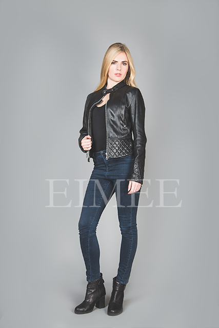 Ladies Leather Jacket Box CHISSA front