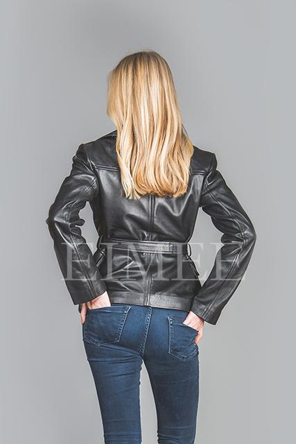 Women's Leather Jacket Wrap Around RALMAIN back