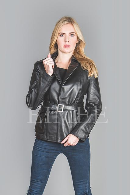 Women's Leather Jacket Wrap Around RALMAIN front zoom
