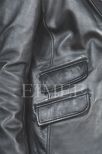 Men's Soft Leather Blazer SERJEY details