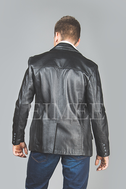 Men's Soft Leather Blazer SERJEY back