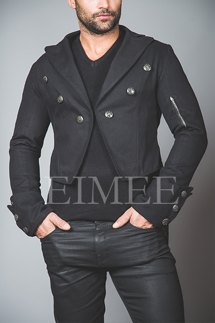 Mens Black Tailcoat Gothic Steampunk Jacket AABI
