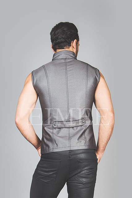 Men's Steampunk Military Waistcoat Vest Top SANDRO  image 2