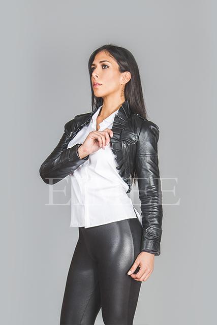 Ladies Soft Leather Waistcoat Steampunk Bolero Ruffled SAMERO  image 2