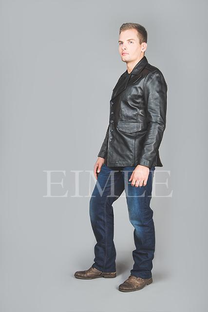 Leather Jacket Gents Top EDWARD side