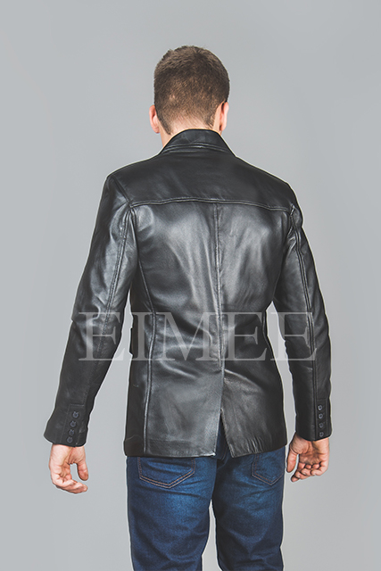 Leather Jacket Gents Top EDWARD back