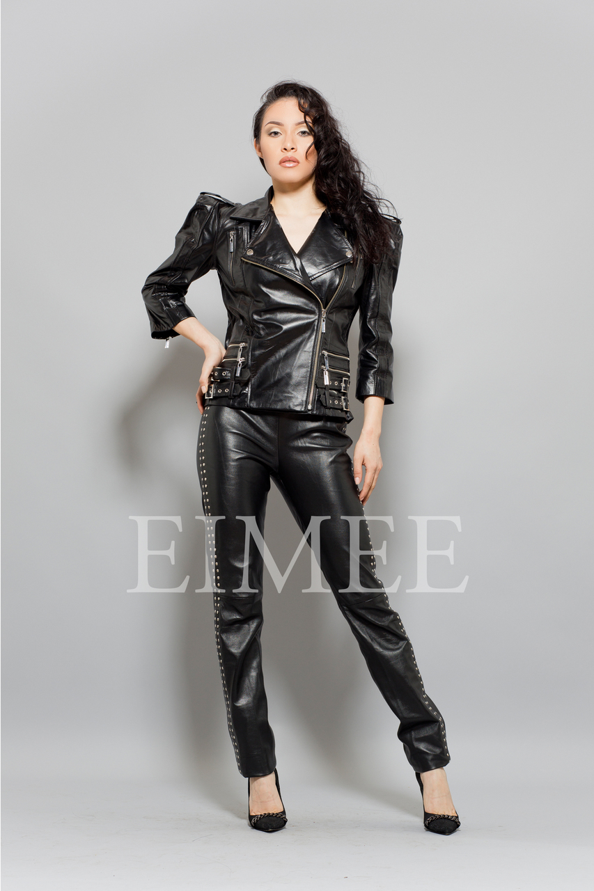 Ladies Leather Jacket LISTA front