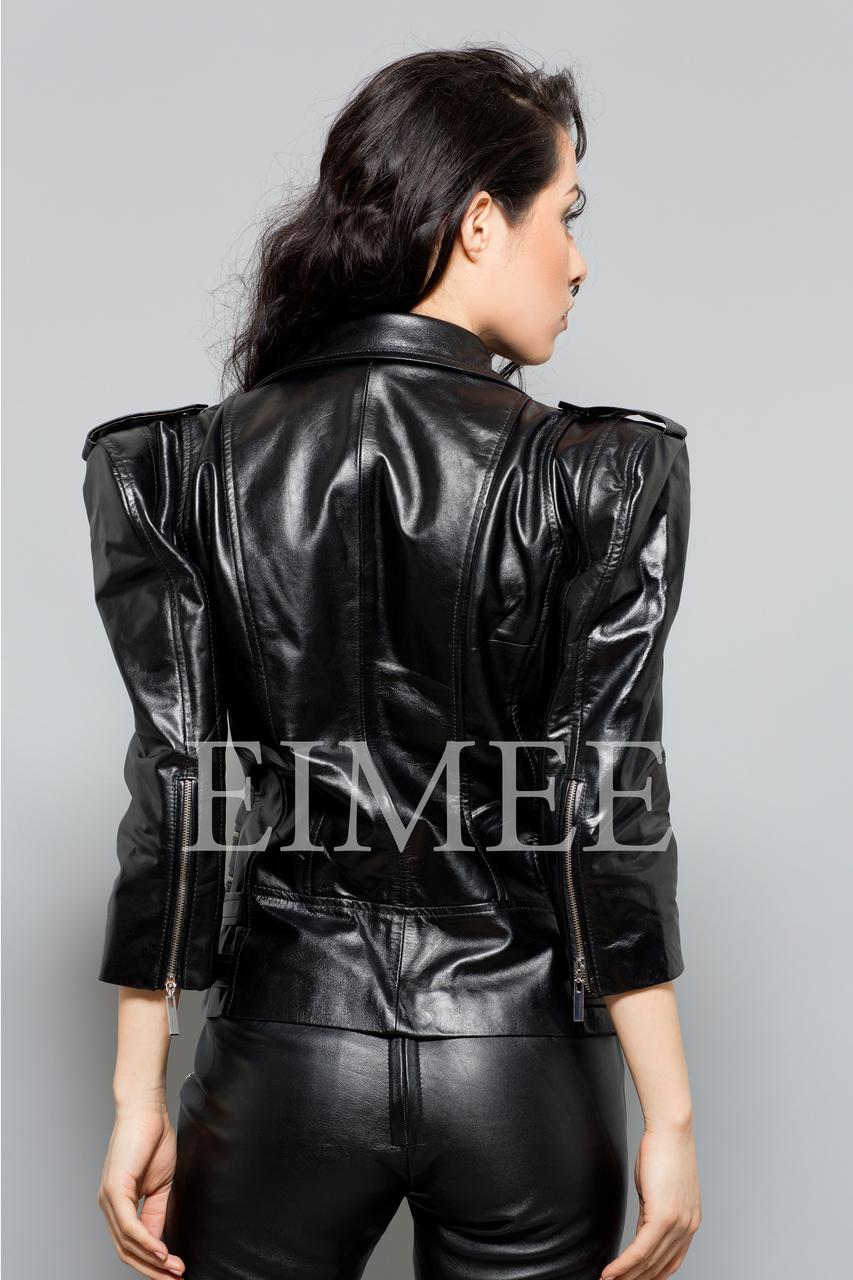 Ladies Leather Jacket LISTA back