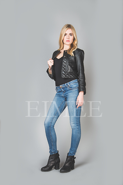 Ladies Leather Jacket Short length PIPA front