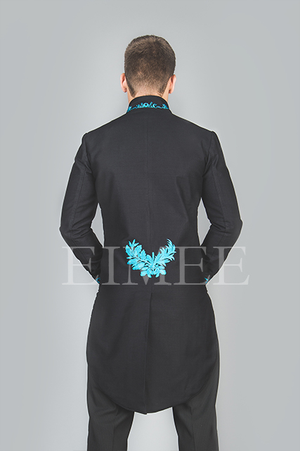 Mens Wedding Tailcoat Morning Dress Top Blue KENTZ image 2