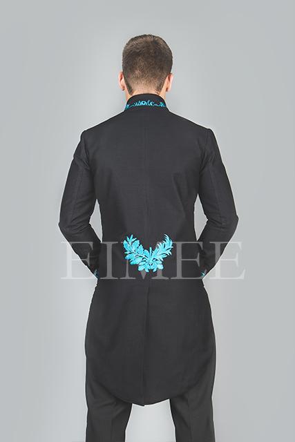 Mens Wedding Tailcoat Morning Dress Top Blue KENTZ image 2