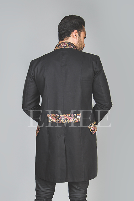 Men's Steampunk jacket back view HARRING