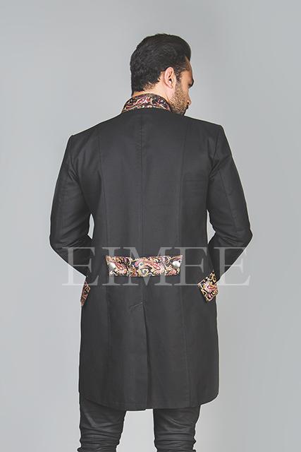Men's Steampunk jacket back view HARRING image 4