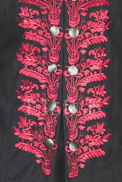 Men's Steampunk red tailcoat KENTZ details