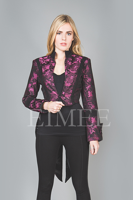 Ladies Tailcoat Formal coat top Victorian Clothing Pink VIVIAN  image 2