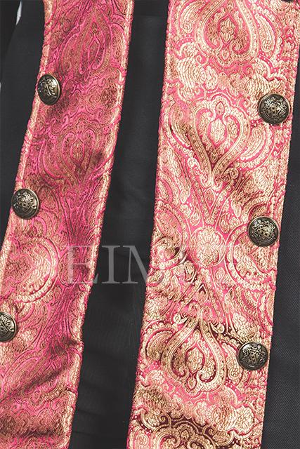 Cotton tailcoat Steampunk Jacket Maroon HARINGTON  image 2
