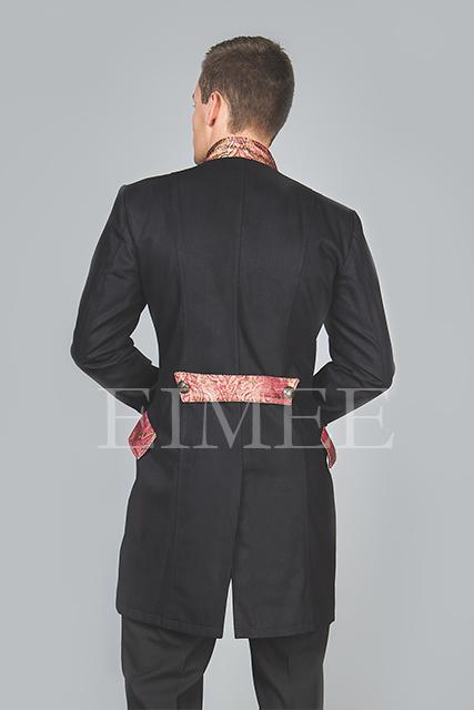 Cotton tailcoat Steampunk Jacket Maroon HARINGTON  image 4