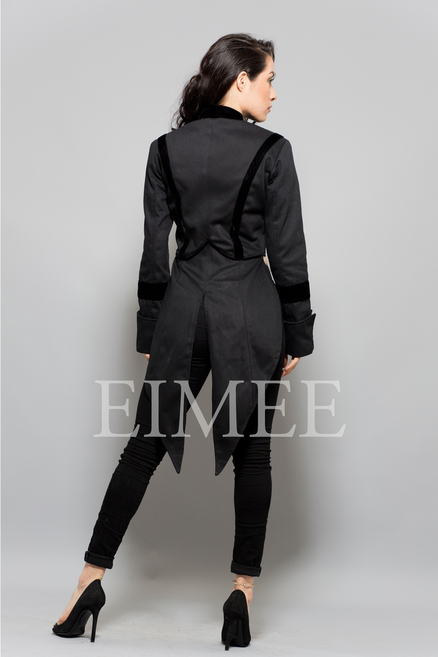 Ladies Tailcoat Formal coat top Victorian Black
