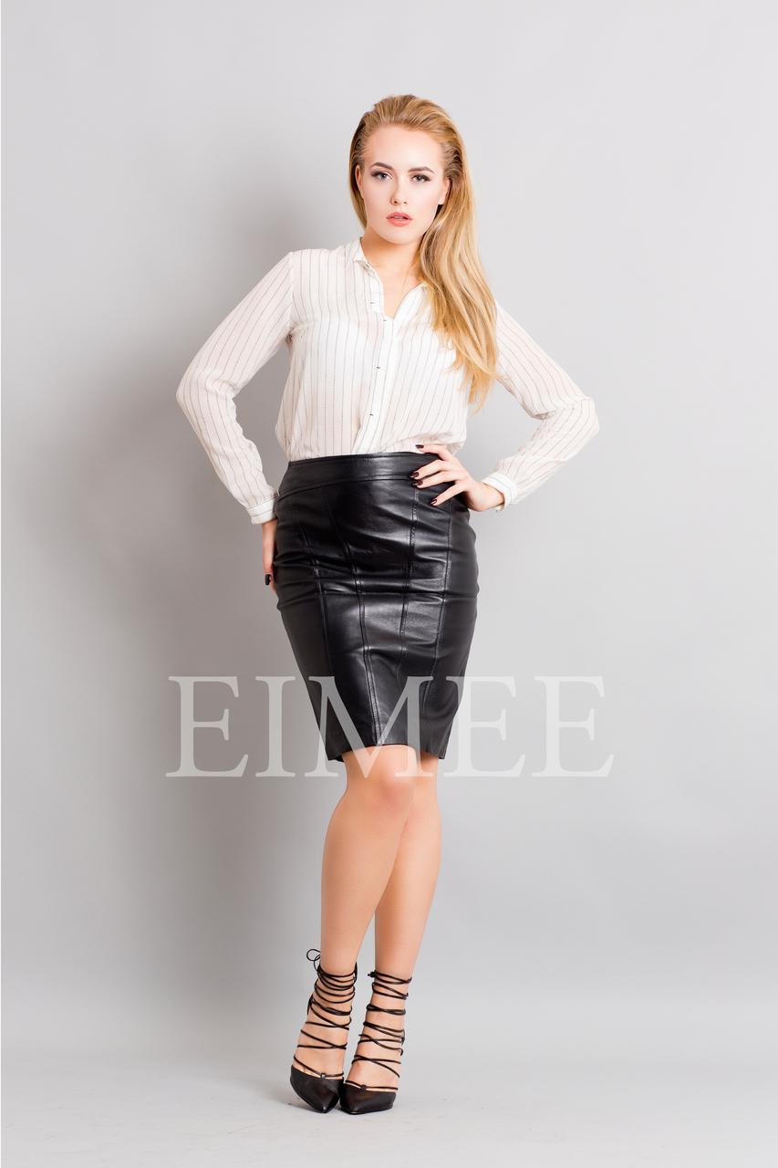 Full Grain Leather Pencil Skirt OREEN front