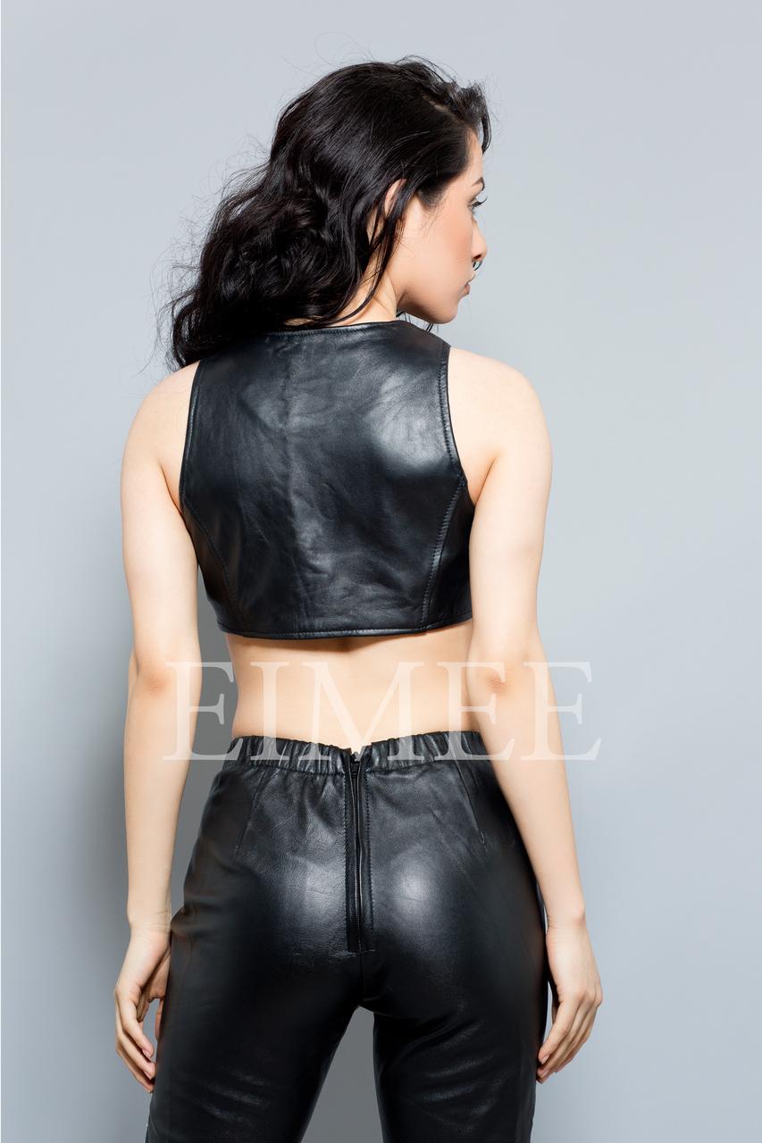 Stylish top Leather Short Vest Waist Coat TERSA back