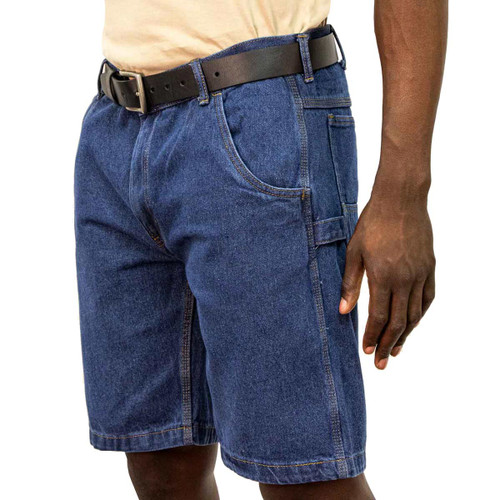 Denim Shorts Cotton Polyester Relaxed Fit Tool Loop Double Utility Pocket