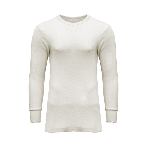 Thermal Underwear Shirt Cotton Polyester Fabric  Crew Neck Knitted Cuffs