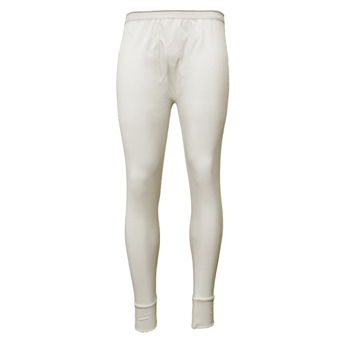 Thermal Underwear Bottom Cotton Polyester Fabric  Ankle Length Elastic Waistband
