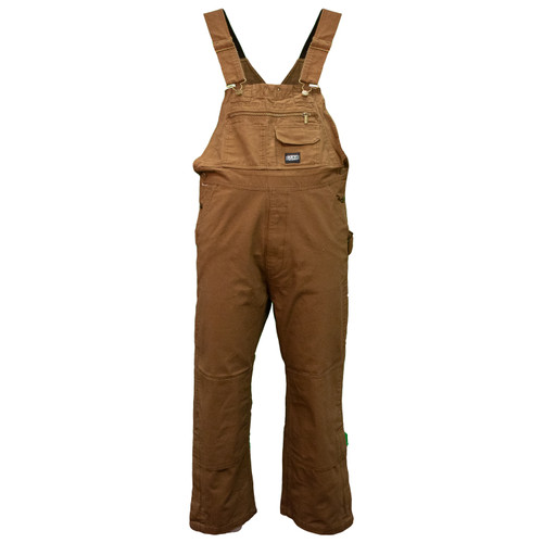 Unlined Duck Bib Overalls Knee Zip Cotton Multi-Pocket Reinforced Adjustable Straps