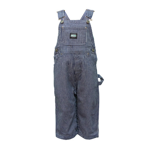 Toddler Bib Overall Cotton Washed Utility Pockets Pewter Hardware Hammer Loop