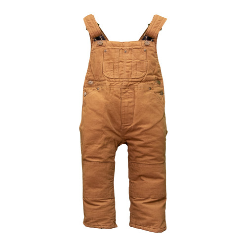 Toddler Traditional Insulated Duck Bib Overalls Cotton Heavyweight Bonded Polyester Fiberfil Insulation Taffeta Lining Reinforced Suspender Buttons Double Utility Pockets