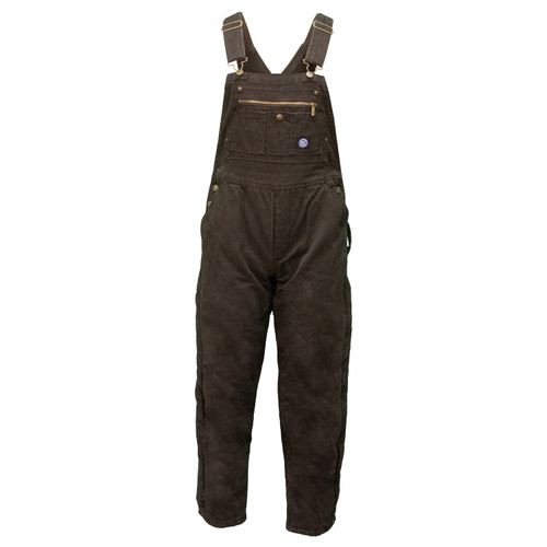 Women's Insulated Bib Overall Cotton 12 oz Duck Fabric  Heavy Weight Bonded Polyester Fiberfil Insulation Multi Pocket Chest Reinforced