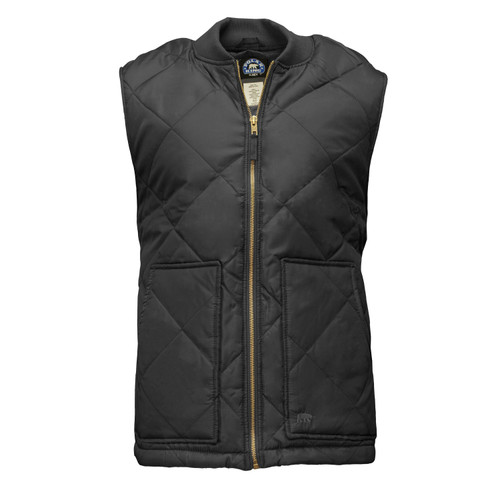 Diamond Quilted Vest Montana  Taffeta Inner Outer Lining Hand Patch Pockets Knit Collar Band Interior Pockets