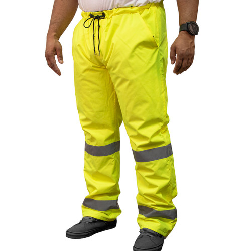Hi-Visibility Sight Pant ANSI Class E ISEA 107-2015 Reflective Tape Adjustable Leg Opening Zipper Pocket
