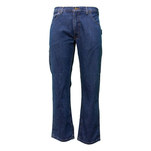 Performance Comfort Denim Dungarees Cotton Polyester Relaxed Fit Utility Pocket