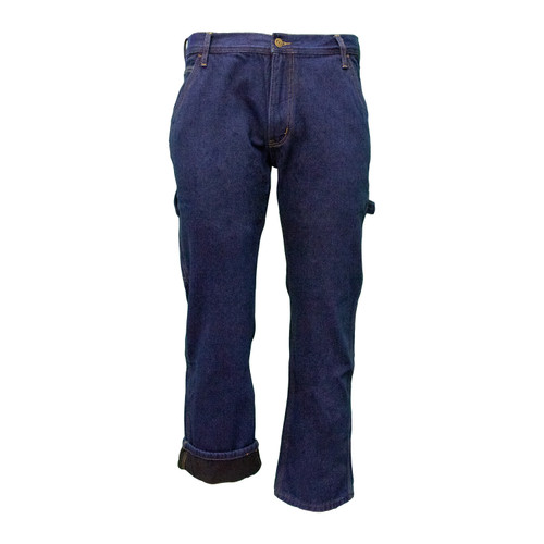 Performance Comfort Fleece Lined Dungarees Cotton Polyester Relaxed Fit Brass Button Utility Pocket