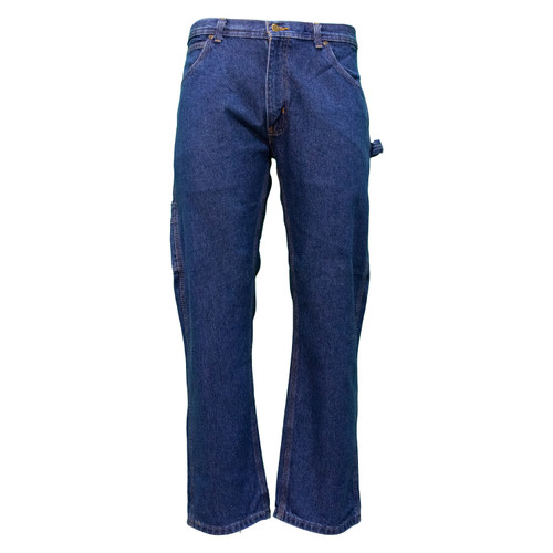 Denim Dungaree Cotton Relaxed Fit Heavyweight Reinforced Pockets Hammer Loop Utility Pocket