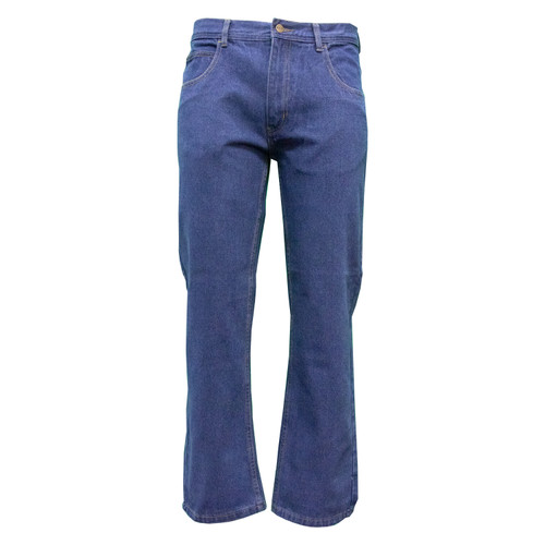 Performance Comfort 5-Pocket Jeans Performance Denim Cotton Polyester Relaxed Fit Brass Button