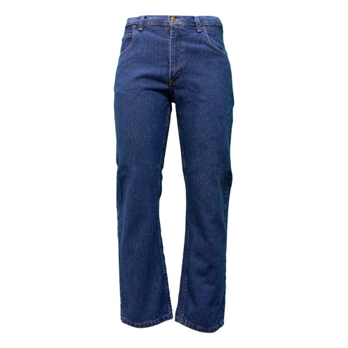 5-Pocket Jean Traditional Fit Heavyweight Cotton Denim Washed Reinforced Pockets