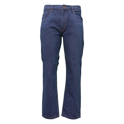 Cell Phone Pocket Jean Ring Spun Cotton Denim Washed Relaxed Fit Reinforced Pockets Loop