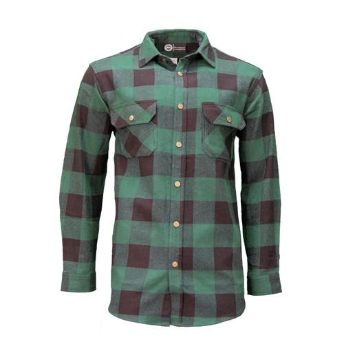 Fort Scott Plaids Yarn Dyed Cotton Banded Collar Hemmed Bottom Adjustable Cuff Chest Pockets Heavy Duty