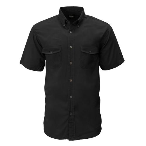 Liberty Short Sleeve Work Shirt Metallic Buttons Button Down Collar Left Chest Pocket