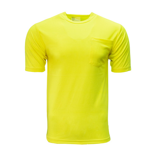 Enhanced Visibility Pocket T-Shirt Polyester Relaxed Fit High Performance Waffle Weave Fabric Taped Neck  Shoulder Seams